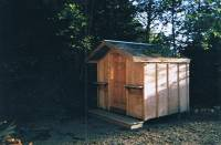 8x8 shed w/2' overhang & stoop