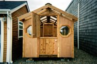 8x16 crafts studio with solid cedar Dutch with custom windows
