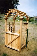 Custom order rose arbor with gate