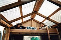 Playing in the loft