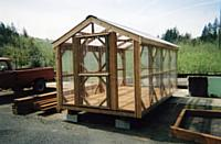 8 x 16 greenhouse with double Dutch doors